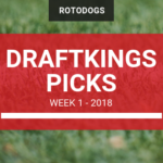 Free DraftKings NFL Picks, Values and Advice – Week 1 2018